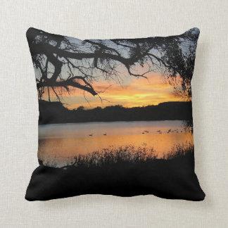 Kansas Sunset at Lake Scott State Park Throw Pillow