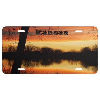 Kansas Sunset Car Tag License Plate