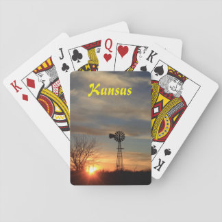 Kansas Sunset Playing Cards