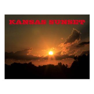 Kansas Sunset Post Card