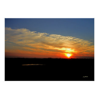Kansas Sunset Poster