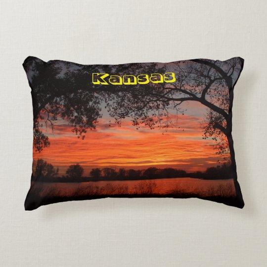 Kansas Sunset Reflections PILLOW!!! Decorative Pillow