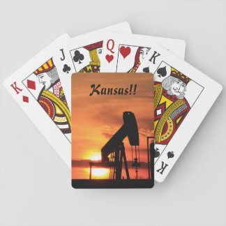 Kansas Sunset/Silhouette Pump Playing Card's Playing Cards