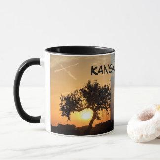 Kansas Sunsets with Crosses Coffee Mug. Mug