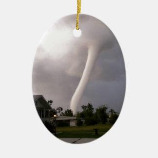 Kansas Tornado Ceramic Oval Ornament