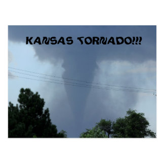 Kansas Tornado Post Card