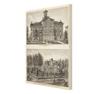 Kansas Wesleyan University Stretched Canvas Prints