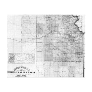 KansasPanoramic MapKansas Canvas Print
