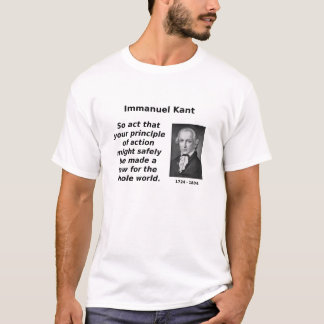 Kant, Categorical Imperative T-Shirt