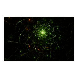 Kaos Entwined Flame Fractal Poster