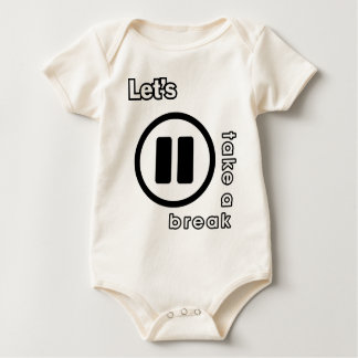 KAOS INUKREASI PLAYER ICONS - LETS TAKE A BREAK V. BABY BODYSUIT