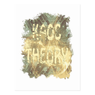 Kaos theory vertical postcard