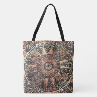 Kapa Primitive Hawaiian Tattoo Tapa Beach Bag