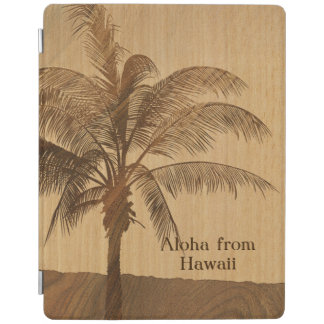 Kapaa Sunset Hawaiian Faux Koa Wood iPad Covers iPad Cover