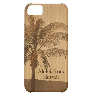 Kapaa Sunset Hawaiian Faux Koa Wood iPhone 5 Cases