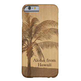 Kapaa Sunset Hawaiian Faux Koa Wood iPhone 6 case