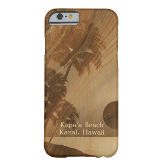 Kapaa Sunset Hawaiian Faux Koa Wood iPhone 6 case Barely There iPhone 6 Case