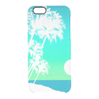 Kapaa Sunset Hawaiian Palm Tree Scenic Clear iPhone 6/6S Case