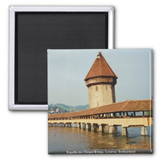 Kapelbruke Chapel Bridge, Lucerne, Switzerland Magnet