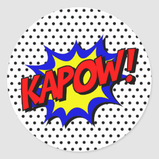 Kapow Pop Art Superpower Hero Birthday Stickers