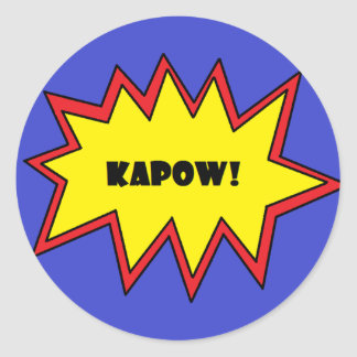 Kapow Round Sticker