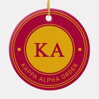 Kappa Alpha Order | Badge Ceramic Ornament