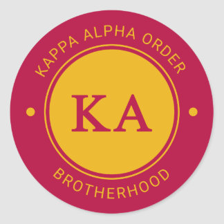 Kappa Alpha Order | Badge Classic Round Sticker