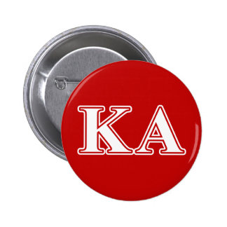 Kappa Alpha Order White and Red Letters 2 Inch Round Button