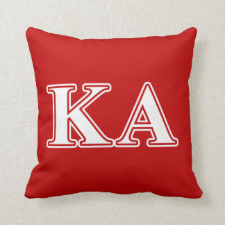 Kappa Alpha Order White and Red Letters Throw Pillow