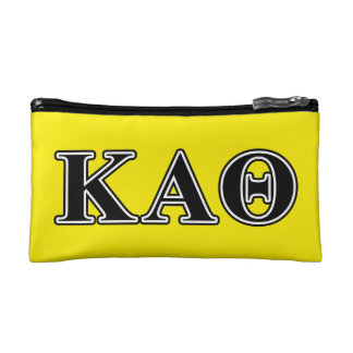 Kappa Alpha Theta Black Letters Makeup Bag