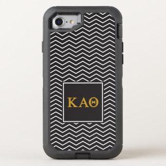 Kappa Alpha Theta   Chevron Pattern OtterBox Defender iPhone 7 Case