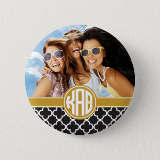 Kappa Alpha Theta | Monogram and Photo 2 Inch Round Button