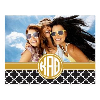Kappa Alpha Theta | Monogram and Photo Postcard