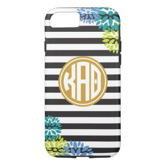 Kappa Alpha Theta | Monogram Stripe Pattern iPhone 7 Case