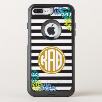 Kappa Alpha Theta | Monogram Stripe Pattern OtterBox Commuter iPhone 8 Plus/7 Plus Case