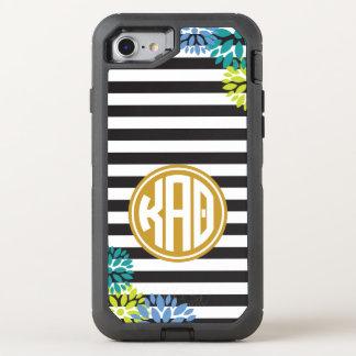 Kappa Alpha Theta   Monogram Stripe Pattern OtterBox Defender iPhone 7 Case