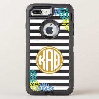 Kappa Alpha Theta   Monogram Stripe Pattern OtterBox Defender iPhone 7 Plus Case