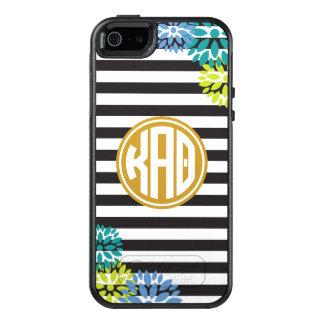 Kappa Alpha Theta   Monogram Stripe Pattern OtterBox iPhone 5/5s/SE Case