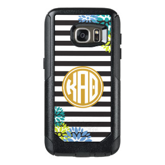 Kappa Alpha Theta   Monogram Stripe Pattern OtterBox Samsung Galaxy S7 Case