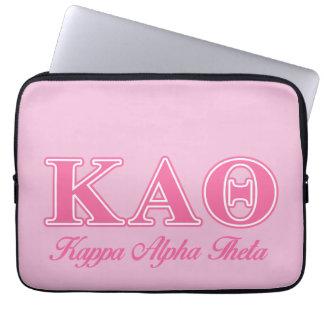 Kappa Alpha Theta Pink Letters Laptop Sleeve