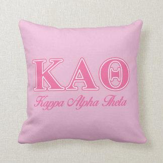Kappa Alpha Theta Pink Letters Throw Pillow