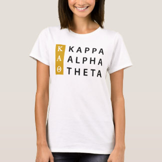 Kappa Alpha Theta | Stacked Logo T-Shirt