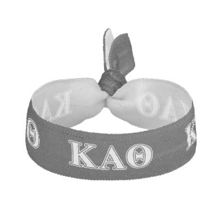 Kappa Alpha Theta White and Black Letters Hair Tie