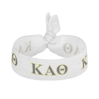 Kappa Alpha Theta Yellow and Black Letters Hair Tie