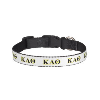 Kappa Alpha Theta Yellow and Black Letters Pet Collar