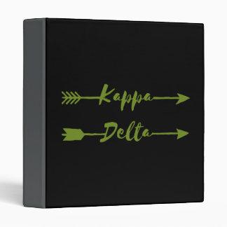 Kappa Delta Arrow 3 Ring Binder