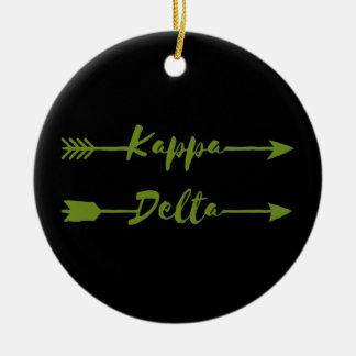 Kappa Delta Arrow Ceramic Ornament