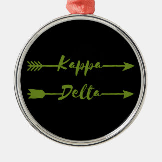 Kappa Delta Arrow Metal Ornament