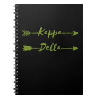 Kappa Delta Arrow Notebook