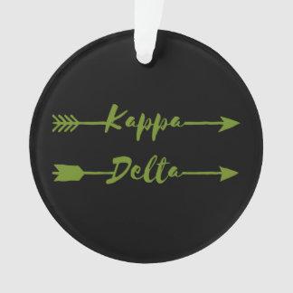Kappa Delta Arrow Ornament